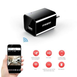 camera espion chargeur wifi
