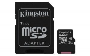 kingston canvas 64 go test